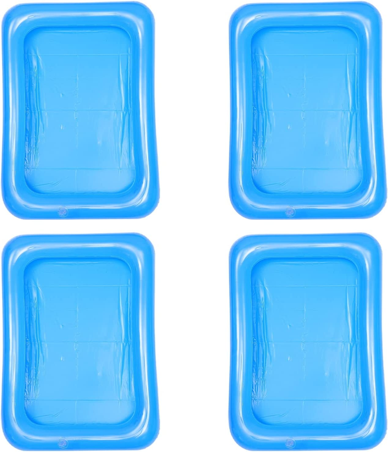Yardwe Inflatable Ice Serving Bar Coolers Floating Drink Holder Buffet Server Tray Pool Cup Holders Beach Summer Party Supplies for Beach Pool Sand Indoor Outdoor Party 4Pcs