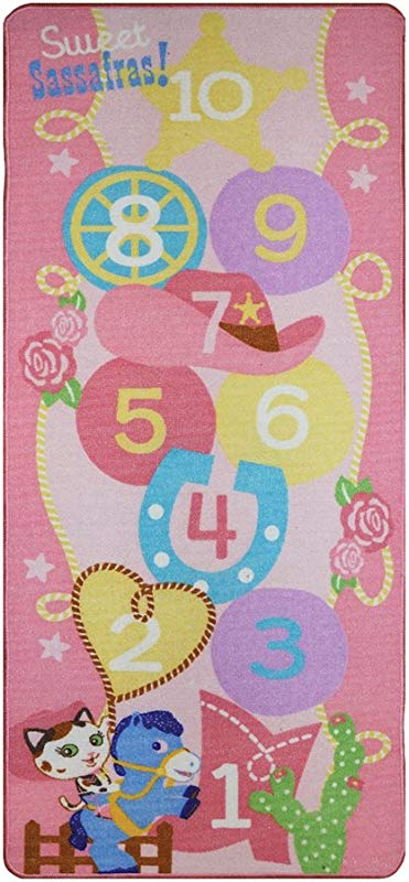 Disney Junior Girls Toy Rug Carnival Sheriff Callie Toys Hopscotch Mat Sparky Pony Bedding Game Rugs 26 X58
