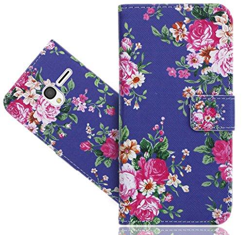 FoneExpert® Alcatel Pixi 3 (4.5 inch) Handy Tasche, Wallet Hülle Flip Cover Hüllen Etui Hülle Ledertasche Lederhülle Schutzhülle Für Alcatel Pixi 3 (4.5 inch)