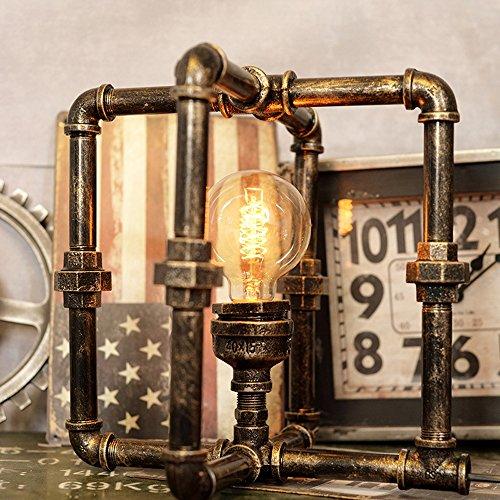 Pointhx Kreative Eisen Wasser Rohr Tischlampen LED Industrie Loft Vintage Schreibtisch Licht Cafe Bar Roboter Tischlampen Steampunk Schmiedeeisen Desktop Nacht Laterne