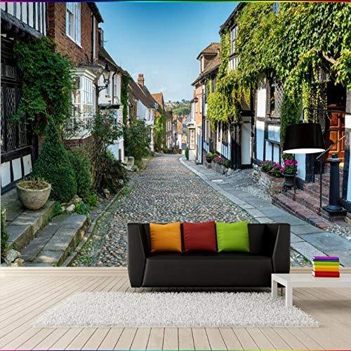 3D groot behang muurschildering foto luxe niet-geweven muur decoratie grote schaal muurschilderingen Europese Italiaanse stad Europees-Style Street Landschap 400 * 280cm Fo1742