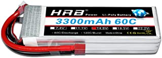 HRB 4S 14.8v 3300mAh 60C Lipo Battery Pack with T Plug for RC Helicopter Airplane Boat Quadcopter