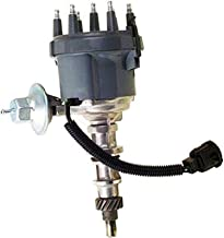A-Team Performance 6 Cylinder Distributor Compatible with Ford 300 4.9L 1974-1985 F100 F150 F250 F100 F350 E100 E150 Silver