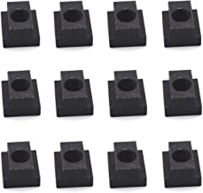 Antrader Grade 8.8 Carbon Steel T-Slot Nut, Black Oxide Finish,Tapped Through Slot T-Nuts, 1/2