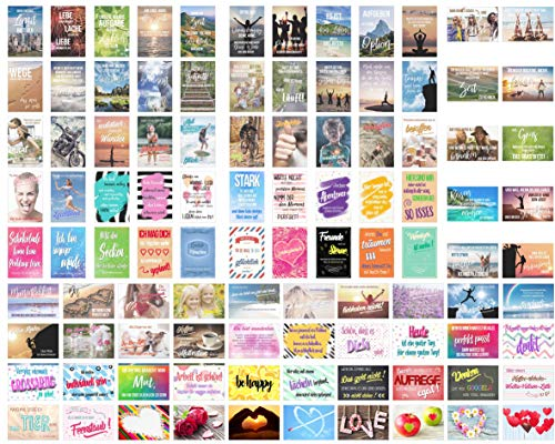 Edition Seidel Set 100 Postkarten Leben & Momente mit Sprüchen Karten mit Spruch Geschenk Geschenkidee Geburtstagskarten Geburtstag Liebe Freundschaft Leben Motivation lustig Postcrossing Bild