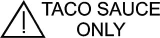 Taco Sauce Only Decal, TEQ Decal, Vintage Teq Logo Sticker, She Wants The Diesel, (H 1 by L 3 Inches, Black)