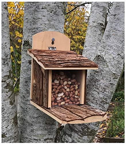 Mangeoire pour écureuils Marron de Greenkey Garden & Home 699
