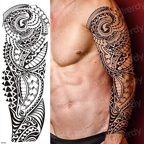 Handaxian 3pcs Braccio Completo Body Art Tatuaggio Ragazza Fiore con Ali Adesivo 3pcs-19