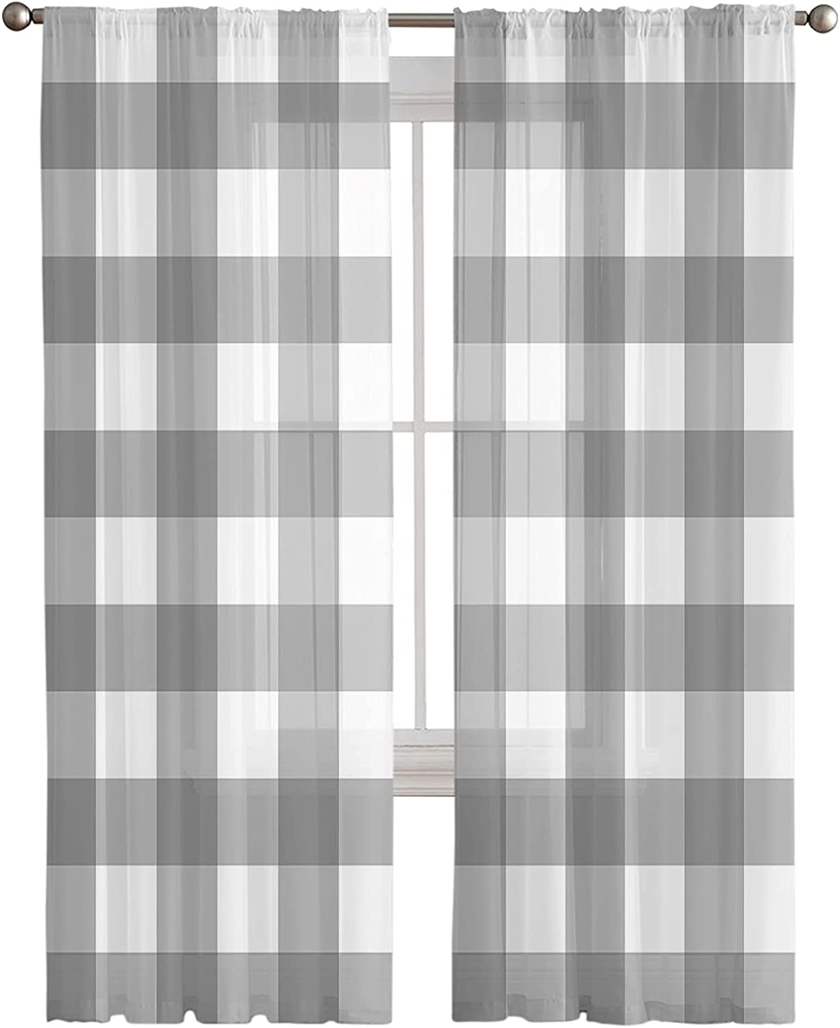Store Semi Sheer Curtains Popular standard 2 Panels Treatments Privacy Window