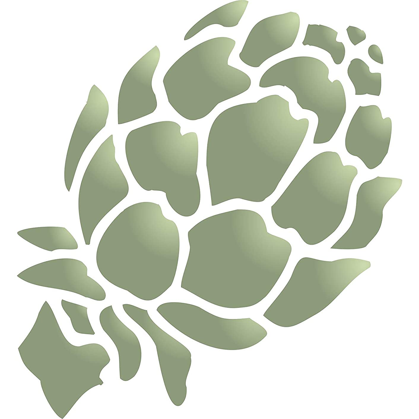 """Artichoke Stencil - (size 4.5""""w x 5""""h) Reusable Wall Stencils for Painting - Best Quality Vegetable Kitchen Stencil Ideas - Use on Walls, Floors, Fabrics, Glass, Wood, Terracotta, and More…"""