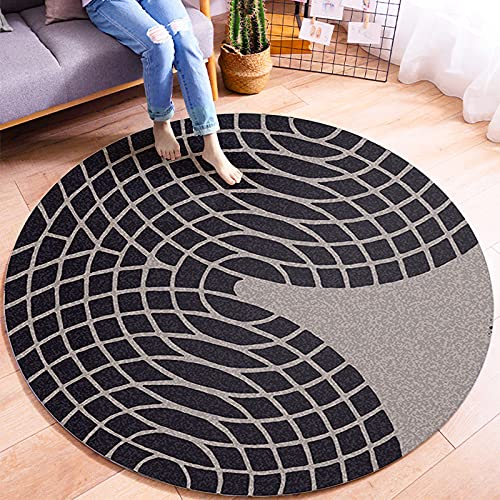 Oukeep Simple Modern Style Round Carpet Home Living Room Study Bedroom Cushion Coffee Table Sofa Bedside Children Crawling Blanket Can Be Washed