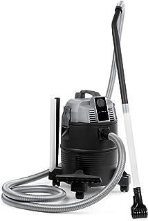 Waldbeck Lakeside Power aspiradora - Aspiradora para Estanque y Lodos, Aspiradora en seco y en húmedo, 1400 W, 18 kPa, 35 litros, DryGo Self-Drainage, Función de Fuelle, Filtro HEPA, Gris