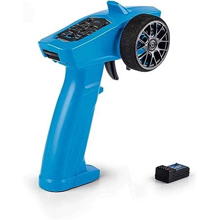Carson 500500100 Reflex Wheel Start 2.4G Radio-Accessoire pour véhicules, télécommande RC, modélisme, 3 canaux, Compatible Tamiya KIT, Bleu