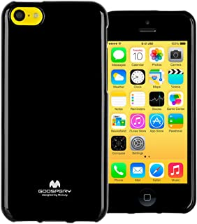 GOOSPERY Marlang Marlang iPhone 5C Case - Black/Free Screen Protector [Slim Fit] TPU Case [Flexible] Pearl Jelly [Protection] Bumper Cover for Apple iPhone5C, IP5C-JEL/SP-BLK