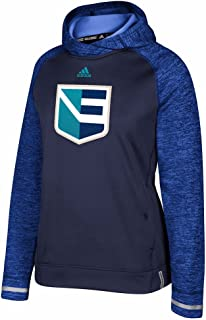 adidas Europe NHL Navy Blue 2016 World Cup of Hockey Climawarm Player Pullover Hoodie for Women
