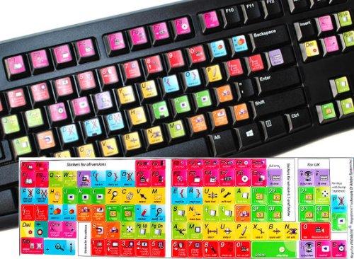 Adobe Premiere Keyboard Stickers Laminated MATT New (11.5 x 13 mm)