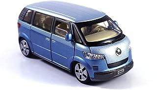 HCK 2001 VW Microbus Family Van Diecast Model Toy Car in Blue