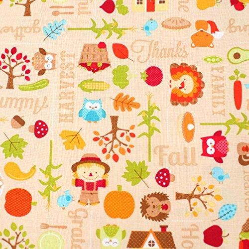 Otoño alimentos marca líder 100% algodón retales FQ Quilting, banderines, Craft Tela fq148C
