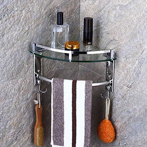 Badkamer Hoek Badkuip Plank RVS Wandmontage Douchebak Frame 7mm Gehard Glas 6.13 (Maat: 1 Dier) 1Tier