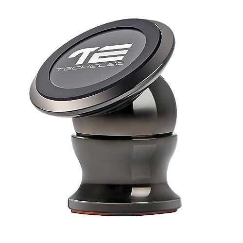 TechElec Soporte Movil Coche, Sostenedor Magnético de Teléfonos Móviles [Rotación de 360 grados]