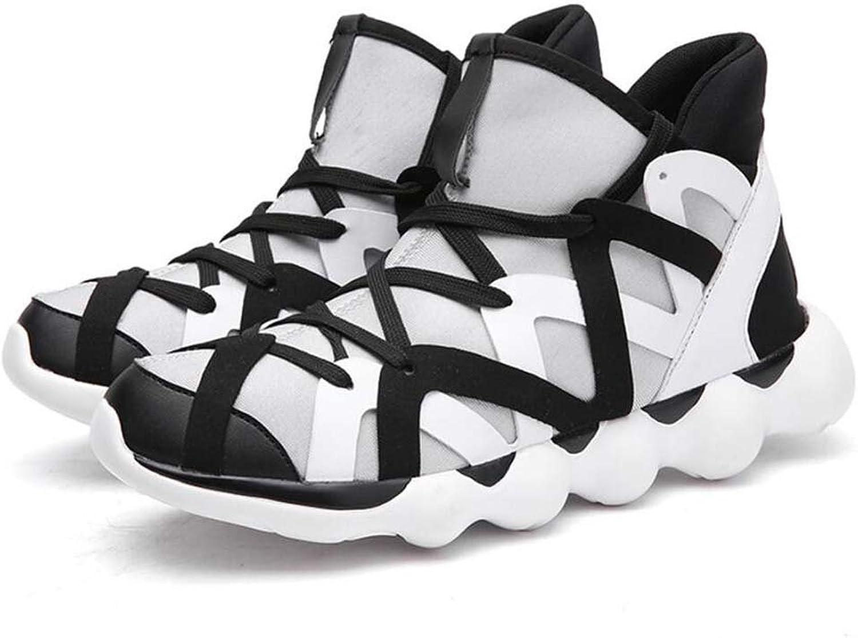 Mamrar Men's Basketball shoes High Top Lace Up PU Fall Winter Comfort Sneakers Eu Size 36-47