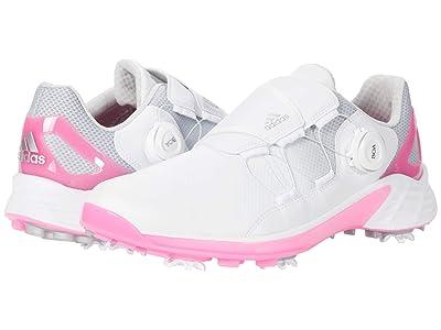 adidas Golf ZG21 Boa (White/Silver Metallic/Scream Pink) Women