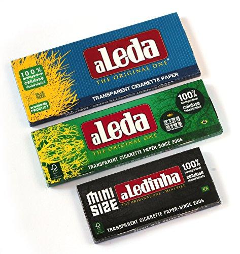 3 folletos - aLeda 3 diferentes papeles transparentes de celulosa De Brasil = 140 hojas