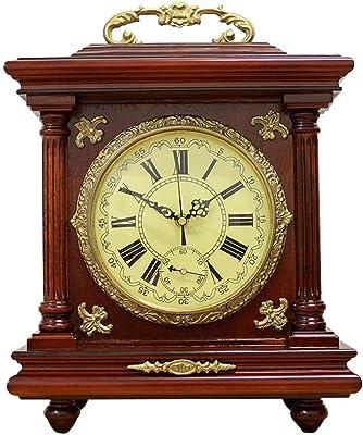 Reloj De Mesa De madera maciza de bronce de cobre reloj ...