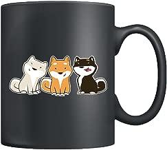 Shiba Inu Coffee Mug - Cute Shiba Inu Mugs Ceramic, Cups Black 11Oz, Perfect Gifts For Friends (Black)