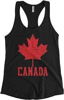 Cybertela Women's Canadian Flag Canada Maple Leaf Racerback Tank Top