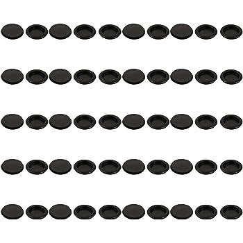 5Pcs Passe-fils protection caoutchouc noir 60mm Dia passe-fils seul côté