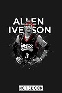 Allen Iverson Notebook: Planner, Journal, Lined College Ruled Paper, Matte Finish Cover, Diary, 6x9 120 Pages