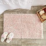 Juvale Non-Slip Bath Mat, Light Pink Bathroom Rug for Showers (32 x 20 in)