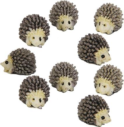 DSYJ 10pcs Miniature Landscape Garden Decor Hedgehog Ornaments