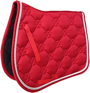 CUTICATE Saddle Pad - Helps with Saddle Bridging, Sore Back, Swayed Back -English Bareback Pad for Horses, Protective for Eventing, Jumping & Training