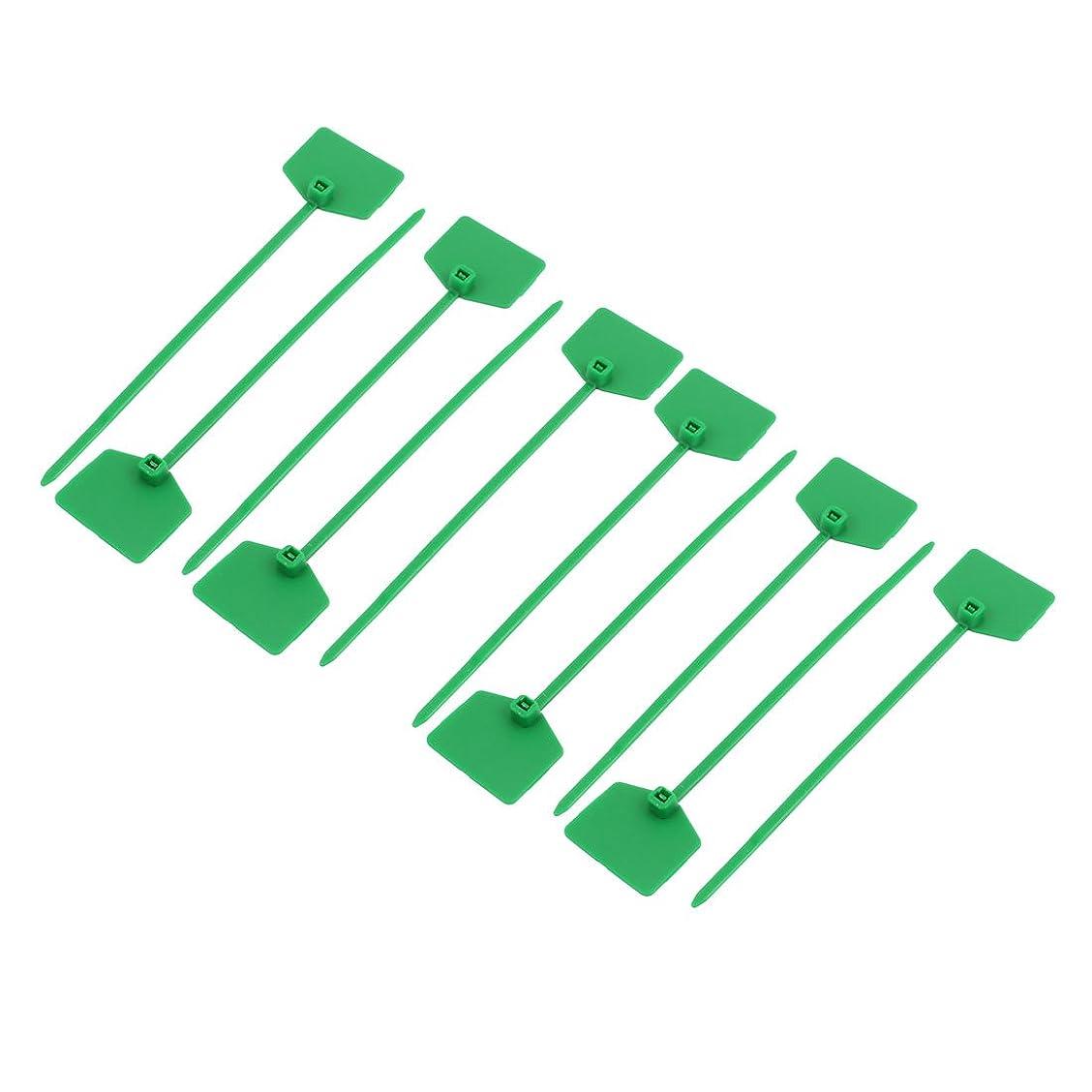 東主観的住人uxcell ケーブルタイ 3mmx120mm ナイロン セルフロックラベル マーカー コード ワイヤ ジップ グリーン3mmx12