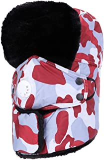 Hat Fashion Unisex Windproof Camouflage Ski Balaclava With Ear Flap Face Mask Motorcycle Face Shield For Men Women Neck Warmer For Winter Outdoors Cycling Snowboarding Hiking Winter Warm Thick Hunting