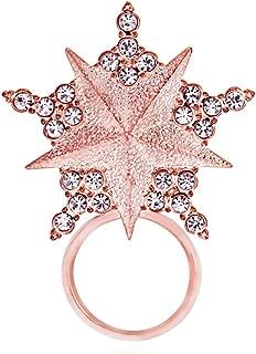 NOUMANDA Clear Crystal Shining Lucky Five-Point Star Magnetic Eyeglass Sunglass Holder Pretty Brooch Pin
