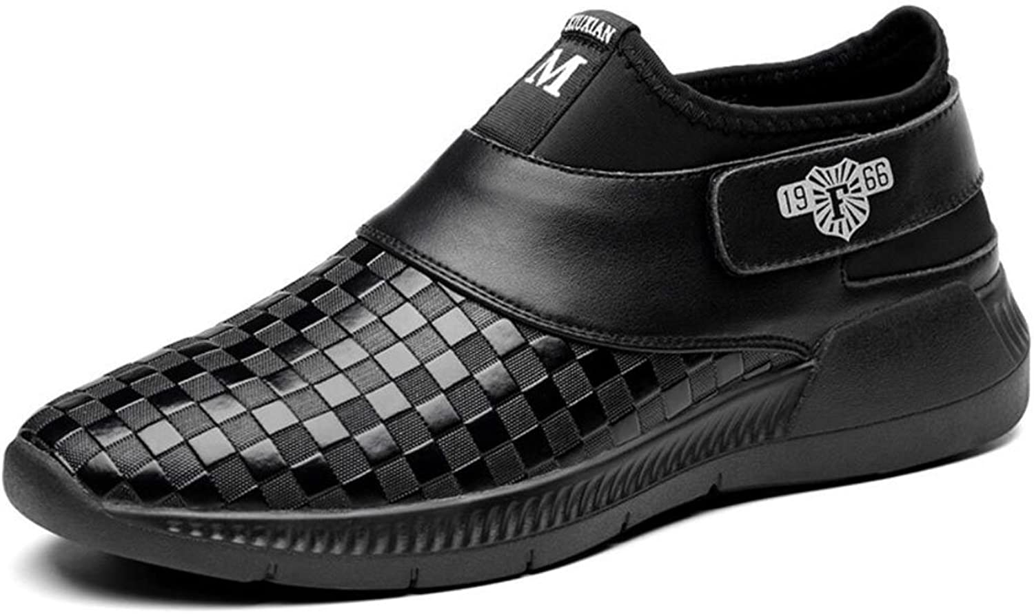 Mens Leather Casual Spring Fall Winter Slip On & Loafers Driving shoes Business Work For Casual Office & Career Outdoor Large Size 38-44 (color   Black, Size   44)