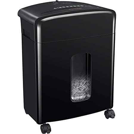 Bonsaii 12-Sheet Cross-Cut Paper and Credit Card Shredder with 3.5-gallons Pullout Basket, Black (C220-A)