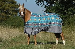 Weatherbeeta Comfitec Essential Standard Neck Medium Turnout Blanket (Turquoise Navajo Print/Gray, 69