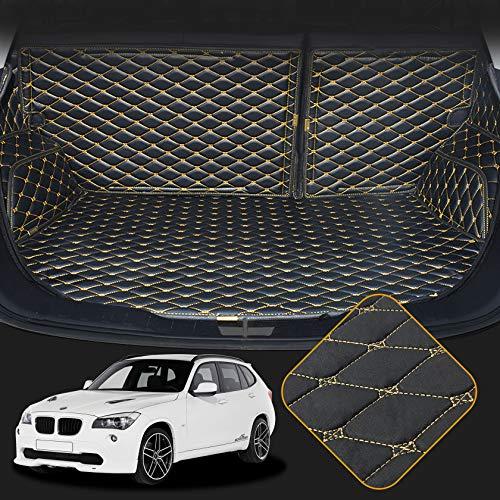 OREALTECH Kofferraummatte Auto für BMW X1 E84 F48 2010-2014 Allwetter XPE Leder Kofferraumwanne 3D All-Inclusive-Stil Schmutzfangmatte