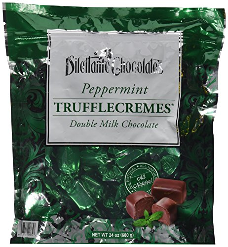 Peppermint Double Milk Chocolate Truffle Cremes - Dilettante 24oz