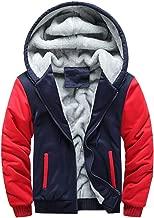 Christmas Mens Back Owl Hoodie Warm Plus Velvet Fleece Zipper Sweater Jacket Outwear Sherpa Lined Hooded Sweatshirt Coat