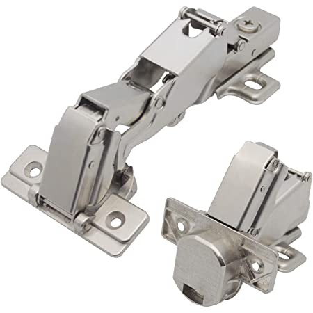 1 Pair x Soft Close Kitchen Door Hinge 170 Degree Complete With Fixings