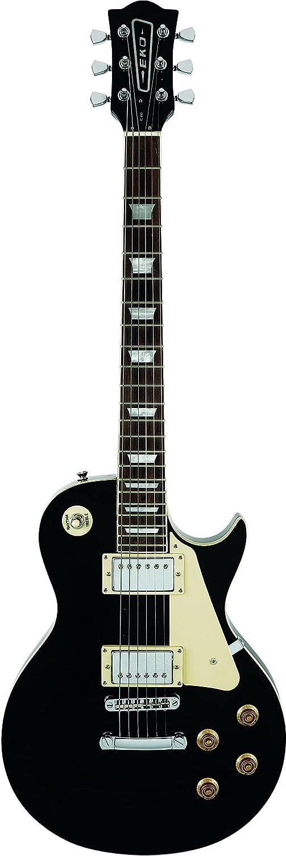 EKO VL-480 BLACK, guitarra eléctrica cuerpo de tilo y Set-in arce 22 trastes, color negro