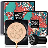 Air Cushion CC Cream Mushroom Head Foundation, SuperThinker Moisturizing BB Cream Nude Makeup Long Lasting Matte Concealer Foundation Makeup