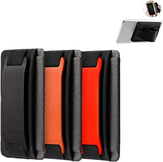 YMHML Phone Grip Card Holder with Phone Stand, Stick on Card Holder for Back of Phone iPhone Android Wallet Function as Ph...
