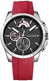 Tommy Hilfiger 1791351 Silicone Round Analog Water Resistant Watch for Men - Red