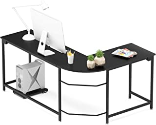 Hago Modern L-Shaped Desk Corner Computer Desk Home...